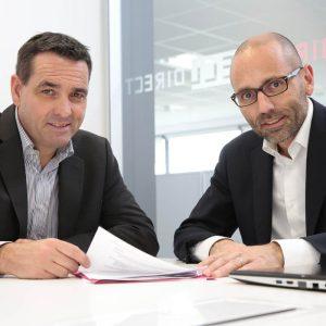 Claude Robin, Xavier De Labarrière, fondateurs d'ECL Direct