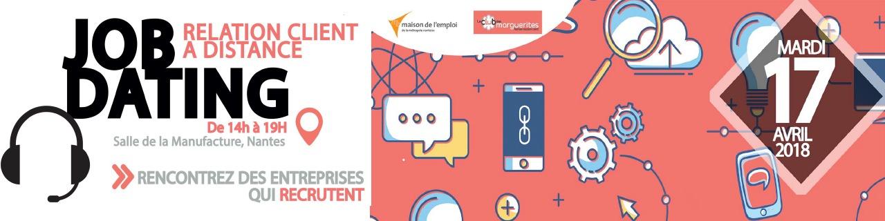 Recrutement :  jobdating Relation Client à distance à Nantes le 17 Avril prochain